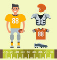american football player and sport game uniform vector image