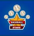 baseball stars emble vector image