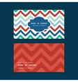 colorful ikat chevron horizontal frame pattern vector image