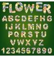 Cute spring alphabet vector image