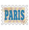 post stamp of Paris vector image