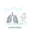 pulmonologist with light smoker vector image