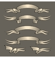 Retro engraving ribbons set vector image