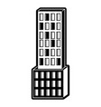 skyscraper building icon black silhouette vector image