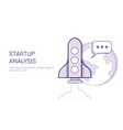 startup analysis business project study concept vector image