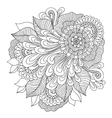 Zen-tangle floral pattern Indian style vector image