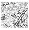 buddhism meditation Word Cloud Concept vector image