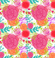 Bright pink roses seamless pattern vector image vector image