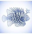 Graphic lion fish vector image