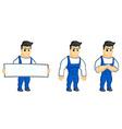 Work man mascot vector image