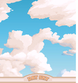 Day sky vector image vector image