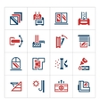 Set color icons of modern window vector image