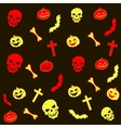 Abstract background Halloween vector image