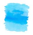 blue color watercolor hand drawn gradient banner vector image