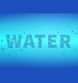 blue drops of water background vector image