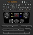 Car buttons vector image