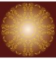 colored circular ornament vector image