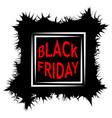 dark black friday sale poster sale frame vector image
