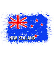 flag of new zeland from blots of paint vector image