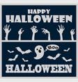 happy halloween greeting on vector image