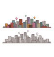 modern city view cityscape urban landscape vector image