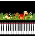 musical christmas template vector image