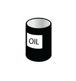 oil tin black and white vector image