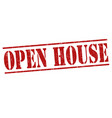 open house stamp vector image