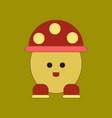 flat icon on background kids toy mushroom vector image