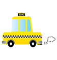 Cartoon car taxi vector image