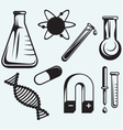 Biology chemistry and physics vector image