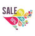 Sale Banner - Colorful Petals vector image