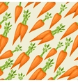 Seamless pattern with fresh ripe carrots vector image
