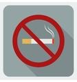 Flat icon no smoking Stop smoking symbol vector image