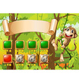 Monkey game design vector image