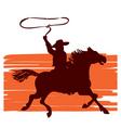 cowboy on horseback vector image