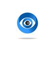 3D abstract human eye logo media blue icon vector image