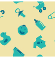 Seamless background with baby stuff vector image