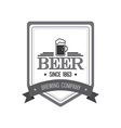 Beer label vector image