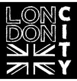 London City t shirt 3 vector image