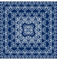 Blue scarf with white pattern vector image