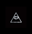 Cao dai Eye of Providence- Religious icon vector image