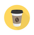 coffee flat icon vector image