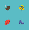 flat icons ice boot american football volleyball vector image