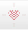 heart target logo icon vector image