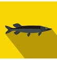 Pike icon flat style vector image