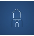 Real estate agent line icon vector image