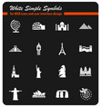 travel and wonders icon set vector image