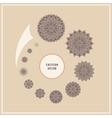 Set ethnic floral design elements logo in vector image