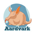 abc cartoon aardvark vector image